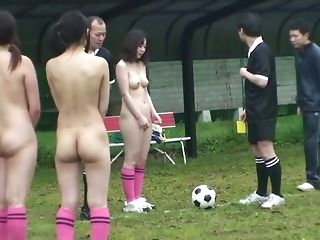 Nude soccer game turns into point of view titwanking and voluptuous hj porn video