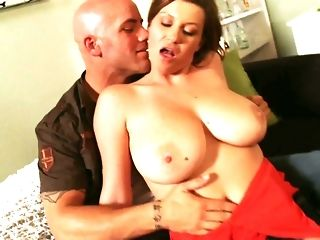 Big-titted mummy in all directions marvelous crimson sundress likes railing naughty guy freeporn